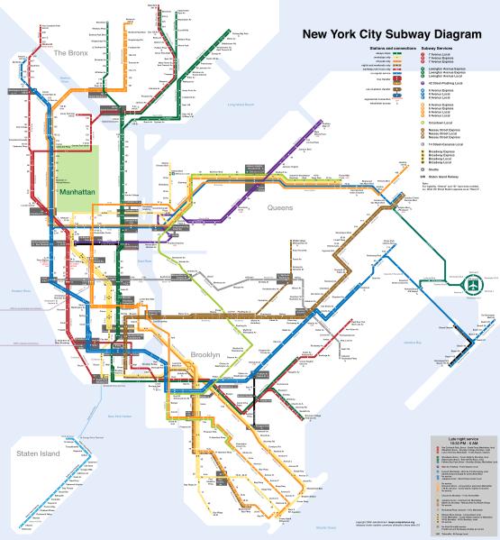 mapa metro nova york