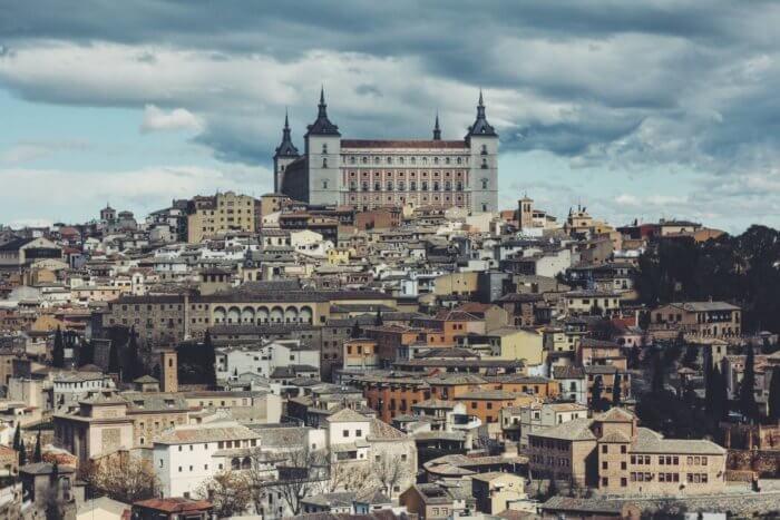 Imagem lateral de Toledo Espanha